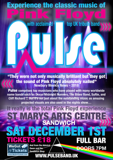 Pulse – Pink Floyd Tribute at St Marys Arts Centre - The Clarendon Hotel  and Bar
